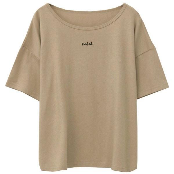 Tシャツ レディース 刺繍 ロゴ 春 夏 半袖 カットソー トップス 送料無料|f-odekake|24
