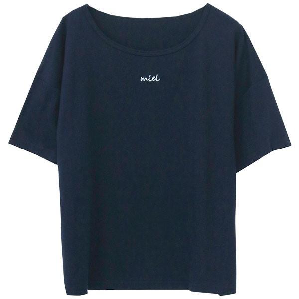Tシャツ レディース 刺繍 ロゴ 春 夏 半袖 カットソー トップス 送料無料|f-odekake|22