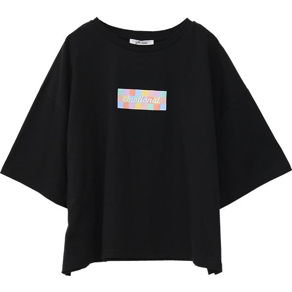 Tシャツ レディース ボックスロゴ 刺繍 ビックTシャツ 春 夏 半袖 ゆったり カットソー トップス 送料無料|f-odekake|15
