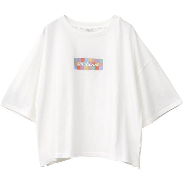 Tシャツ レディース ボックスロゴ 刺繍 ビックTシャツ 春 夏 半袖 ゆったり カットソー トップス 送料無料|f-odekake|14
