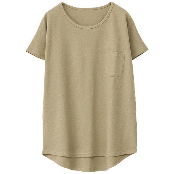 Tシャツ レディース ワッフル 半袖 シンプル 無地 カットソー トップス 送料無料|f-odekake|25