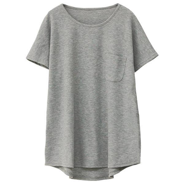 Tシャツ レディース ワッフル 半袖 シンプル 無地 カットソー トップス 送料無料|f-odekake|23