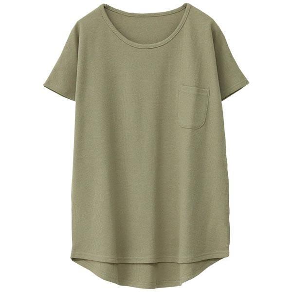 Tシャツ レディース ワッフル 半袖 シンプル 無地 カットソー トップス 送料無料|f-odekake|24