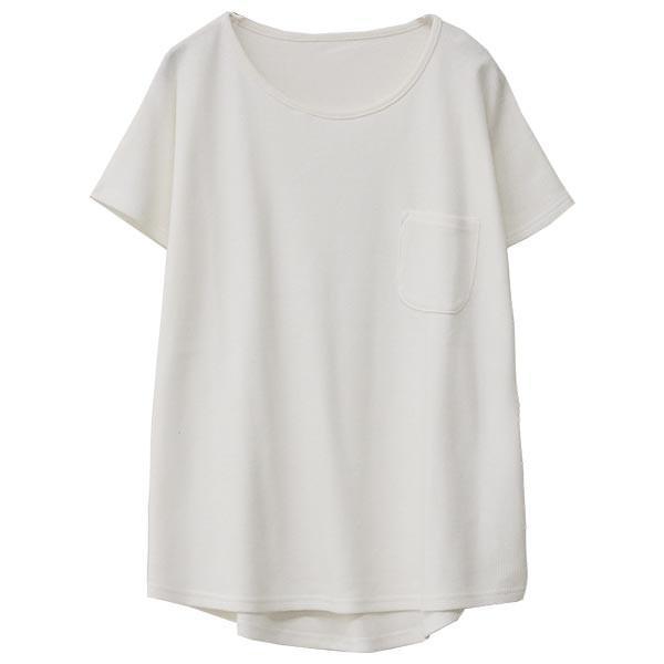Tシャツ レディース ワッフル 半袖 シンプル 無地 カットソー トップス 送料無料|f-odekake|21