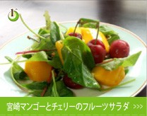 宮崎マンゴーとチェリーのフルーツサラダ