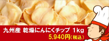業務用 九州産乾燥にんにくチップ 1kg
