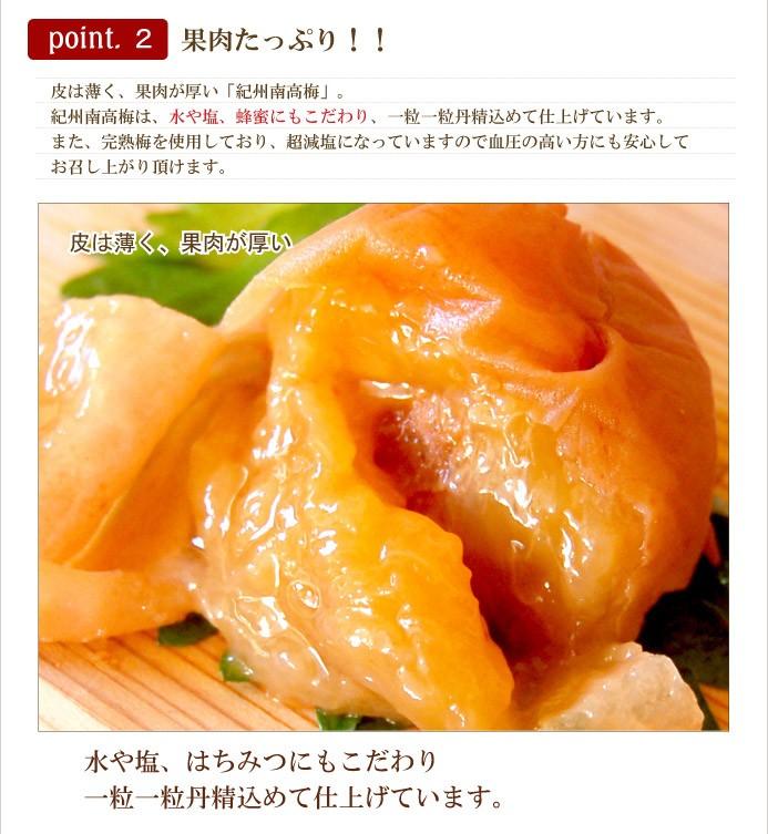 紀州南高梅 蜂蜜漬け 果肉たっぷり