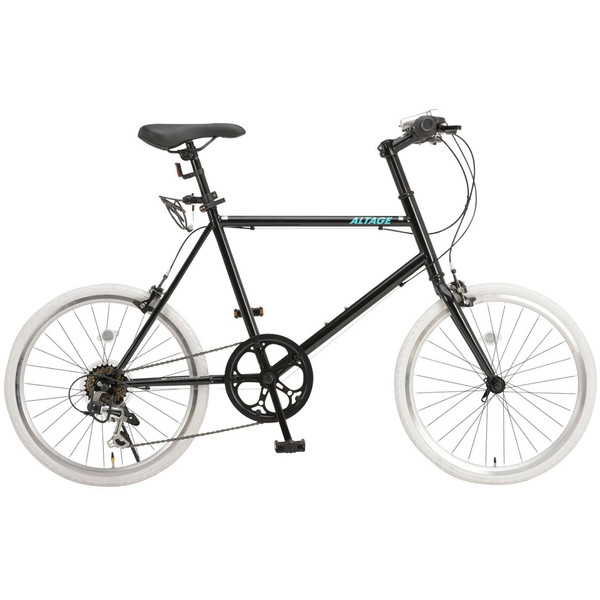 ミニベロ 小径自転車 20インチ シマノ7段変速ギア LEDライト カギ スマホホルダー プレゼント ALTAGE アルテージ AMV-001 組立必要品|f-select|21