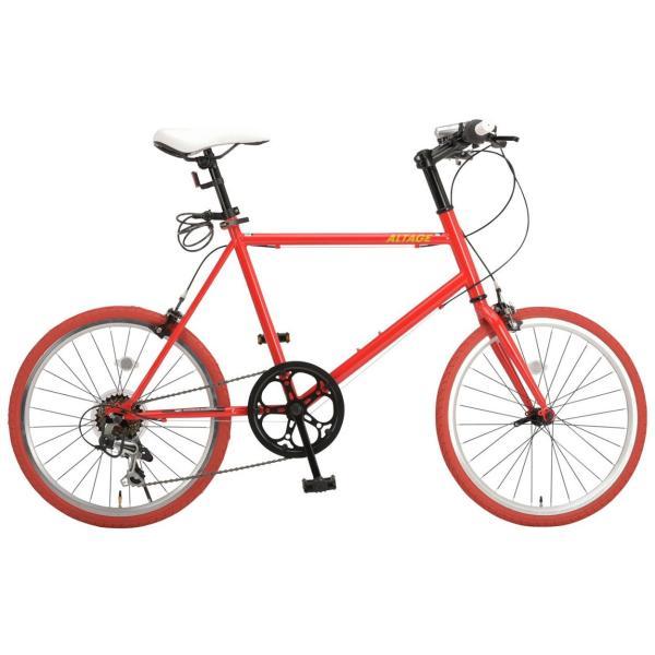 ミニベロ 小径自転車 20インチ シマノ7段変速ギア LEDライト カギ スマホホルダー プレゼント ALTAGE アルテージ AMV-001 組立必要品|f-select|22