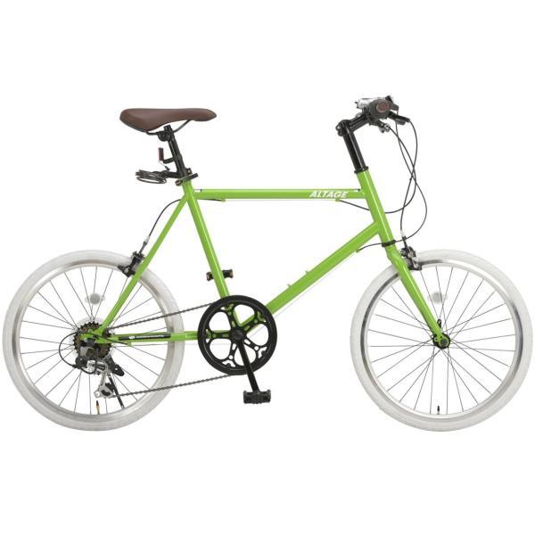ミニベロ 小径自転車 20インチ シマノ7段変速ギア LEDライト カギ スマホホルダー プレゼント ALTAGE アルテージ AMV-001 組立必要品|f-select|25