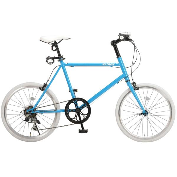 ミニベロ 小径自転車 20インチ シマノ7段変速ギア LEDライト カギ スマホホルダー プレゼント ALTAGE アルテージ AMV-001 組立必要品|f-select|26