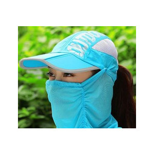 3WAYサンキャップ フェイスカバー付き帽子 日よけ帽子 マスク付き帽子 ランニング用 帽子 ゴルフ レディース UVカット 日除け 日焼け防止 紫外線カット|factshop|19