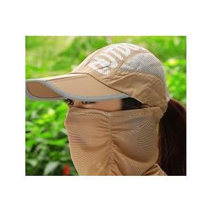 3WAYサンキャップ フェイスカバー付き帽子 日よけ帽子 マスク付き帽子 ランニング用 帽子 ゴルフ レディース UVカット 日除け 日焼け防止 紫外線カット|factshop|18