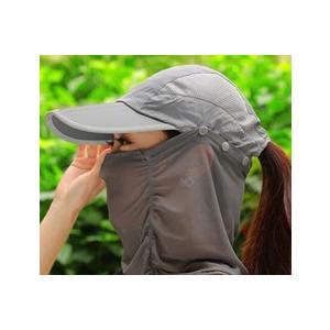 3WAYサンキャップ フェイスカバー付き帽子 日よけ帽子 マスク付き帽子 ランニング用 帽子 ゴルフ レディース UVカット 日除け 日焼け防止 紫外線カット|factshop|17