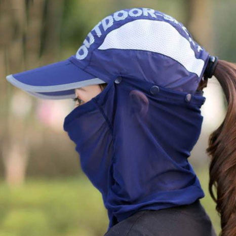 3WAYサンキャップ フェイスカバー付き帽子 日よけ帽子 マスク付き帽子 ランニング用 帽子 ゴルフ レディース UVカット 日除け 日焼け防止 紫外線カット|factshop|22