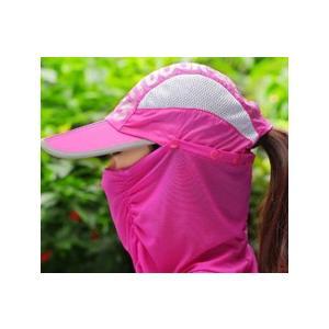 3WAYサンキャップ フェイスカバー付き帽子 日よけ帽子 マスク付き帽子 ランニング用 帽子 ゴルフ レディース UVカット 日除け 日焼け防止 紫外線カット|factshop|21