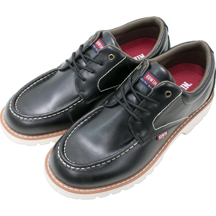 スニーカー メンズ 防水 エドウィン レインシューズ ウォーキング 黒 茶 軽量 EDWIN 通勤 20 30 40 50代 靴 edm7310w|fairstone|22