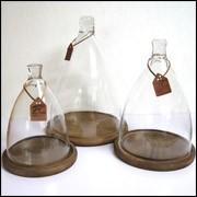 ガラスドーム ディスプレイドーム 木製台座