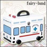 木製救急箱 救急車タイプ 裁縫箱 小物入れ