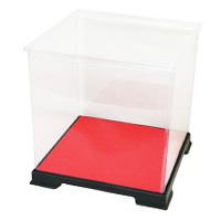 透明ケース 正方形 台座フェルト