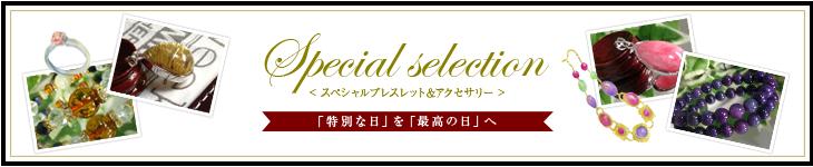 スペシャルブレスレット&アクセサリー 特別な日を最高の日へ