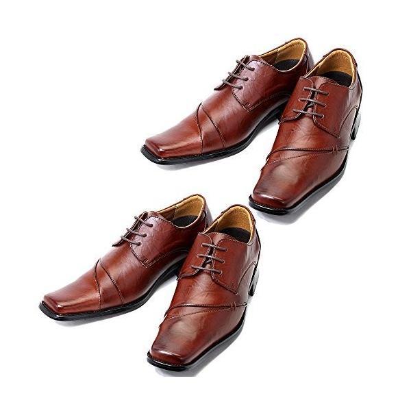 ビジネスシューズ 2足セット 革靴 メンズ ビジネス ストレートチップ シューズ 紳士靴 PU 選べる luminio ルミニーオ 041|fashion-labo|24