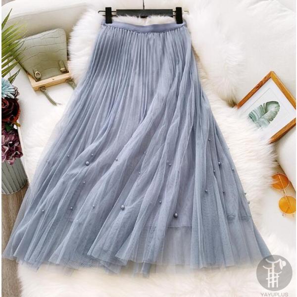 スカート チュールスカート スカート マキシ ロングスカート フレアスカート ウエストゴム マキシスカート ミモレ丈 スカート フリル 一部分当日発送 代引不可|fashionrizumu|27