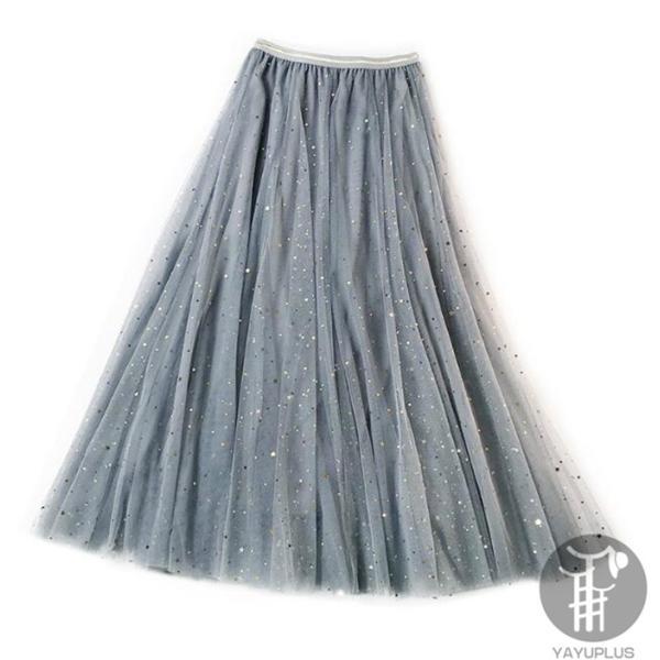 スカート チュールスカート スカート マキシ ロングスカート フレアスカート ウエストゴム マキシスカート ミモレ丈 スカート フリル 一部分当日発送 代引不可|fashionrizumu|31
