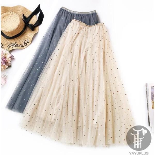 スカート チュールスカート スカート マキシ ロングスカート フレアスカート ウエストゴム マキシスカート ミモレ丈 スカート フリル 一部分当日発送 代引不可|fashionrizumu|33