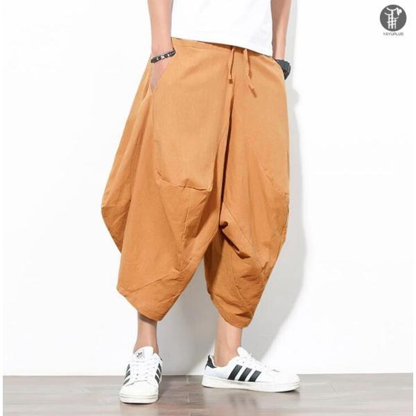 サルエルパンツ メンズ 一部即納 アラジンパンツ  ワイドパンツ ゆったり ビッグシルエット クロップドパンツ 代引不可|fashiontop|11