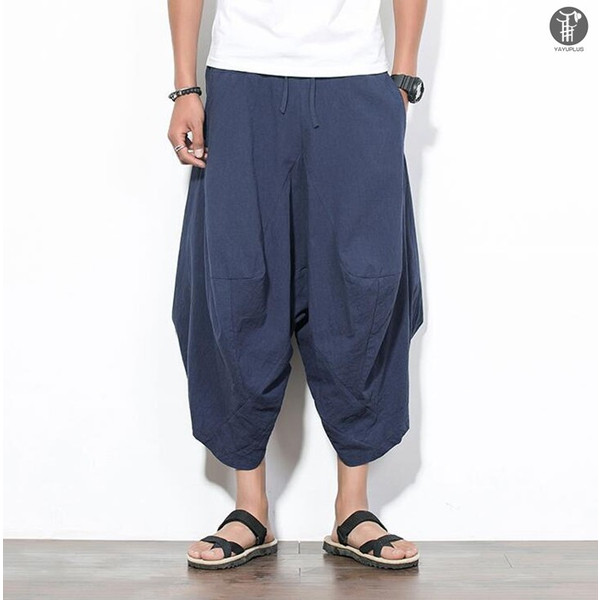 サルエルパンツ メンズ 一部即納 アラジンパンツ  ワイドパンツ ゆったり ビッグシルエット クロップドパンツ 代引不可|fashiontop|13