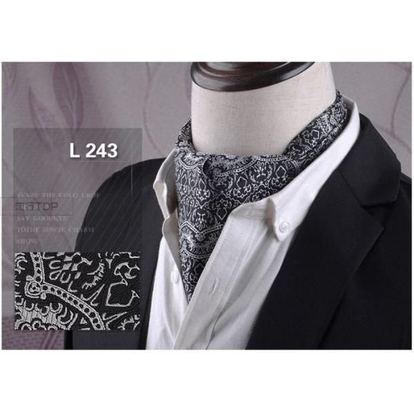 アスコットタイ スカーフ メンズ ビジネス 新生活 お洒落 紳士 結婚式 アスコットスカーフ フォーマル ペイズリー柄 洗える 代引不可|fashiontop|15