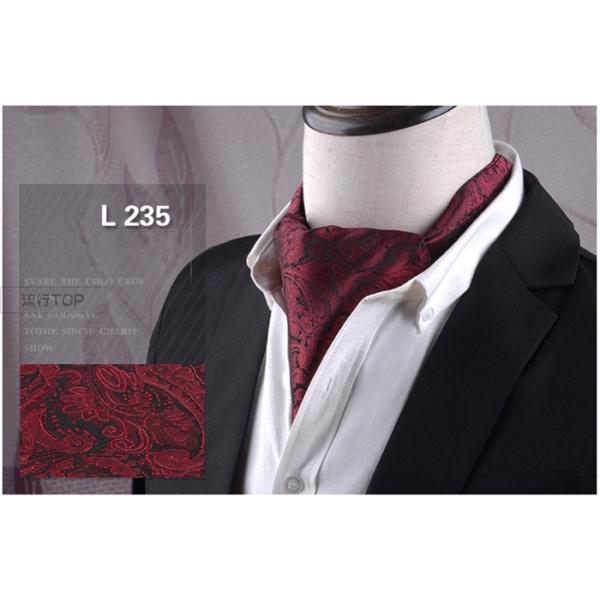 アスコットタイ スカーフ メンズ ビジネス 新生活 お洒落 紳士 結婚式 アスコットスカーフ フォーマル ペイズリー柄 洗える 代引不可|fashiontop|10