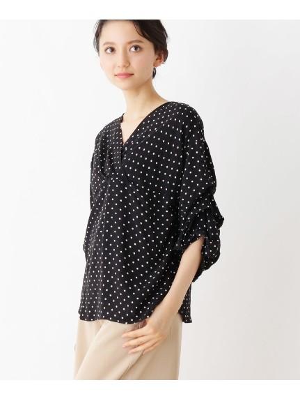 grove(グローブ)通販 ボリュームタック袖シャツ(ブラック(119))