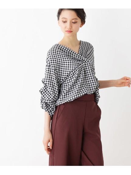 grove(グローブ)通販 ボリュームタック袖シャツ(ブラック(219))