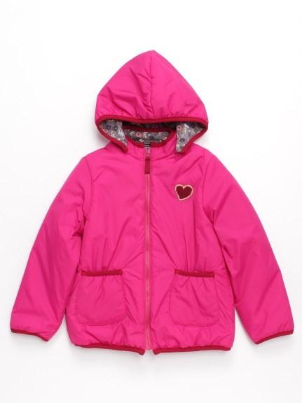hakka kids(ハッカキッズ)通販|[エコ中綿・リバーシブル・フード取り外し可]オリジナルブルゾン(ピンク)