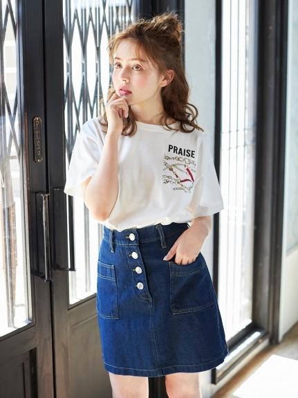 INGNI(イング)通販|柄ポケット/Tシャツ(オフホワイト/オフホワイト)