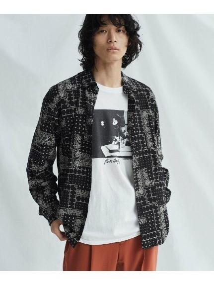 tk.TAKEO KIKUCHI(ティーケー タケオキクチ)通販 ランダムバンダナプリントビッグシャツ(ブラック(419))