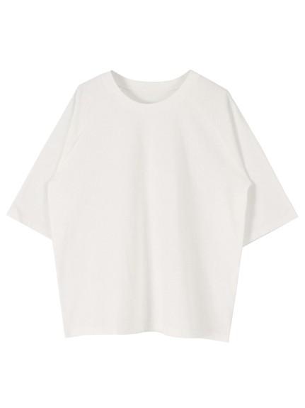 titivate(ティティベイト)通販|オーバーサイズラグランスリーブコットンTシャツ(ホワイト)