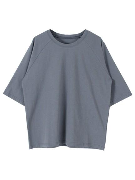 titivate(ティティベイト)通販|オーバーサイズラグランスリーブコットンTシャツ(チャコール)