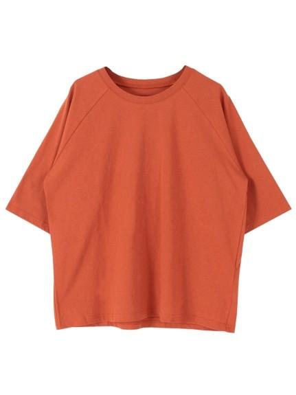 titivate(ティティベイト)通販|オーバーサイズラグランスリーブコットンTシャツ(オレンジ)