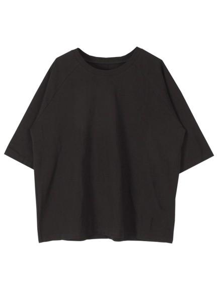 titivate(ティティベイト)通販|オーバーサイズラグランスリーブコットンTシャツ(ブラック)