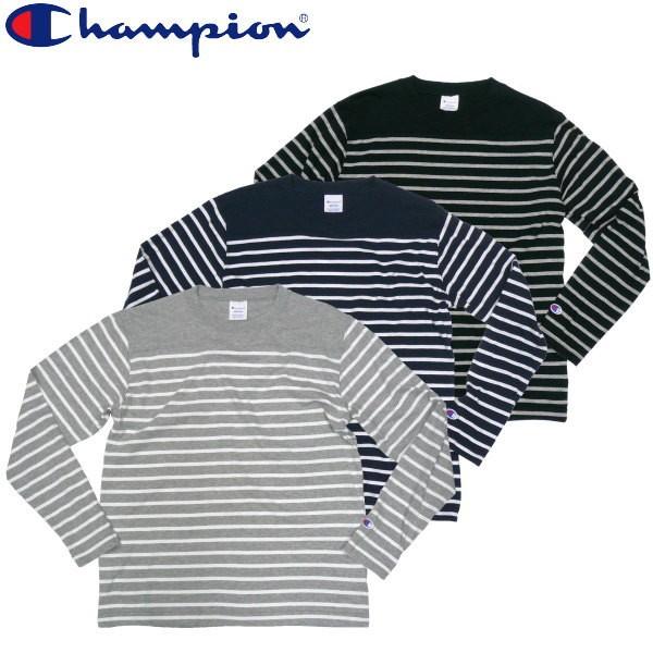チャンピオン ボーダー ロングTシャツ