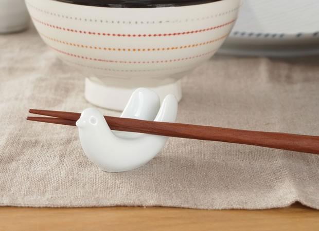 白山陶器 HAKUSAN とり型 箸置き 波佐見焼