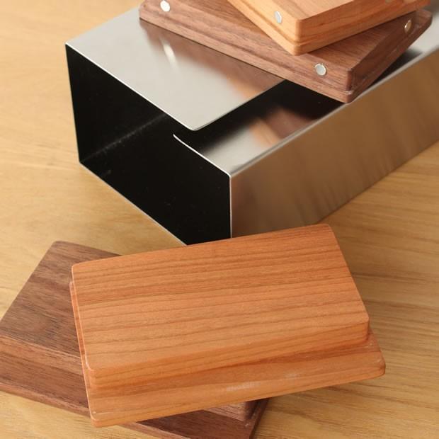 ヤマサキデザインワークス ティッシュボックス ウッド 木製 チェリー/ウォルナット