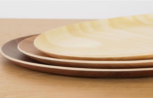 木製 トレー 丸 お盆 カフェトレー 円形 32cm 日本製 Natural Plywood Tray Round L GOLD CRAFT ゴールドクラフト