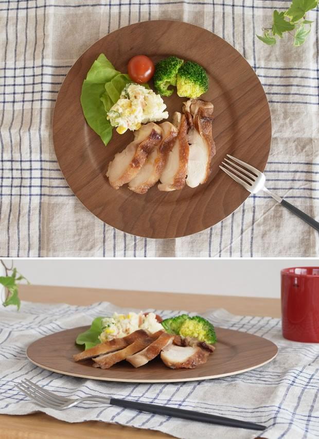 木製食器 皿 プレート 木製 食器 丸型 円形 日本製 Natural Plywood Plate Wide Rim M GOLD CRAFT ゴールドクラフト
