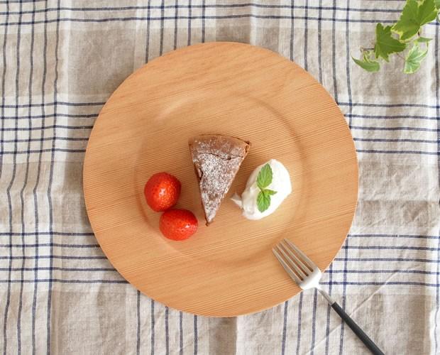 木製食器 皿 プレート 木製 食器 丸型 円形 日本製 Natural Plywood Plate Wide Rim S GOLD CRAFT ゴールドクラフト