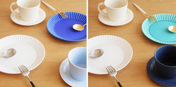 SAKUZAN 作山窯 美濃焼 Stripe 丸皿 M 18.8cm プレート 食器 取り皿 中皿 浅皿 丸型 円形 日本製 和食器 手仕事 うつわ 器 手作り