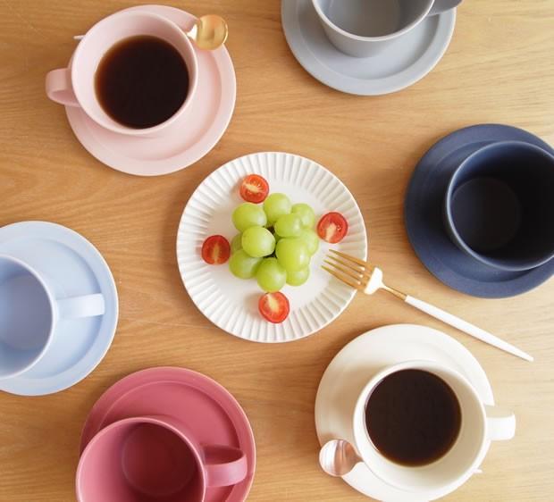 SAKUZAN 作山窯 美濃焼 Stripe 丸皿 S 15.3cm プレート 食器 取り皿 小皿 浅皿 丸型 円形 日本製 和食器 手仕事 うつわ 器 手作り